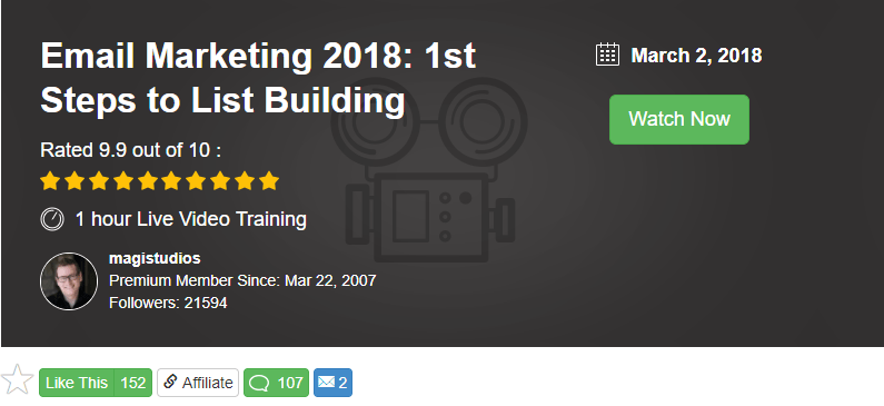 Wealthy Affiliate live training by Jay