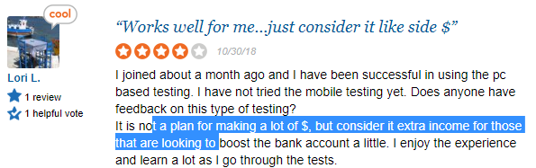 positive review about usertesting