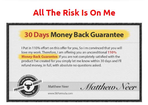 5k Formula System money back guarantee