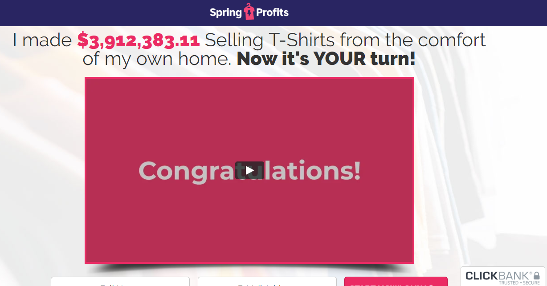 Spring Profits homepage