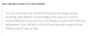 how to get verified in peerfly