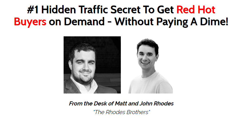 one minute free traffic founders matt john rhodes
