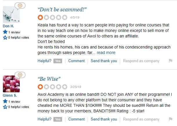 awol academy complains