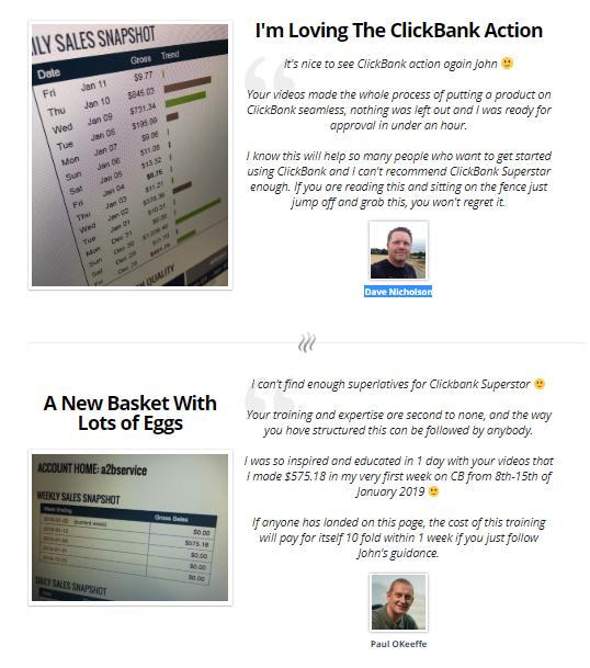 clickbank superstar testimonials