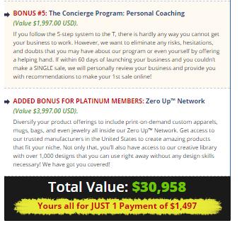 zero up bonus price