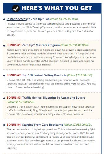 zero up bonus
