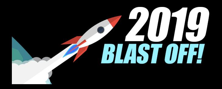 2019 blast off logo