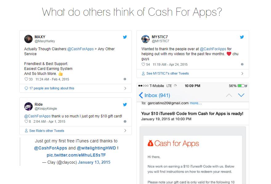 cash for apps testimonials