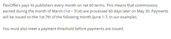 flexoffers payment schedule