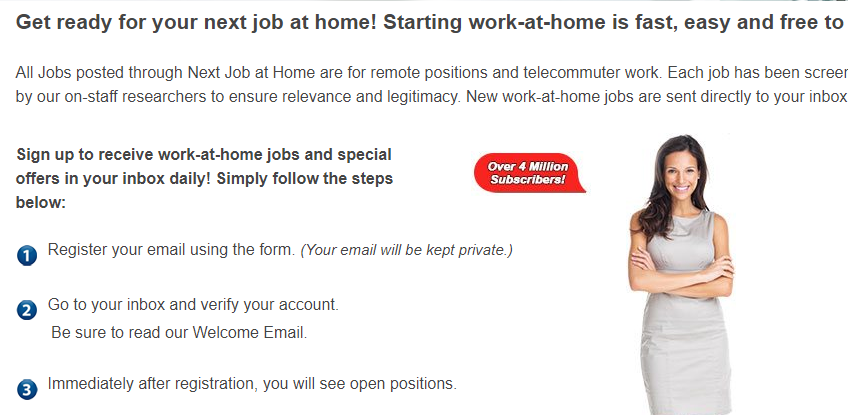 how next job at home works