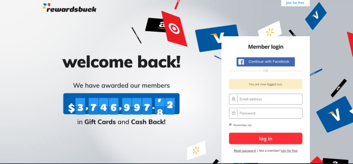 how to sign up with rewards buck