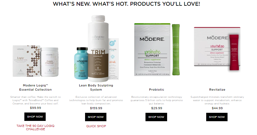 modere products