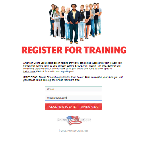 register for training american online jobs