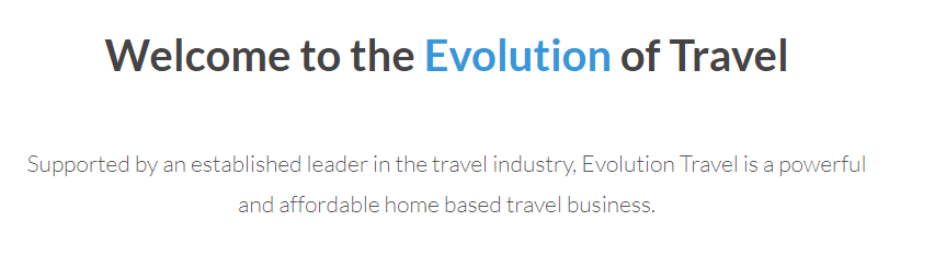 what is evolution travel about
