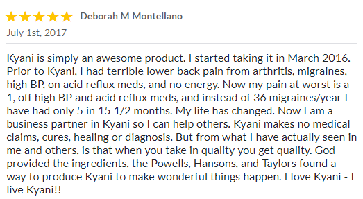 kyani positive review