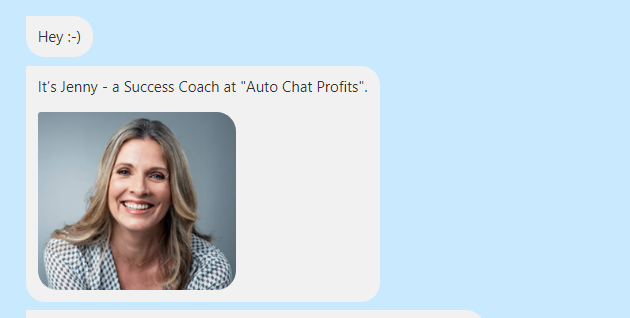 auto chat profits fake success coach
