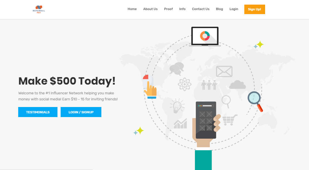 referral pay website