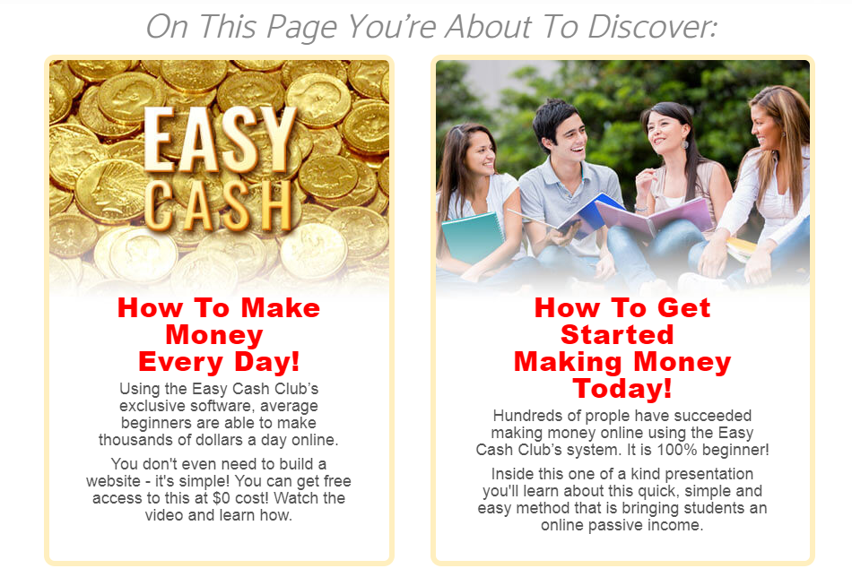 what is easy cash club about