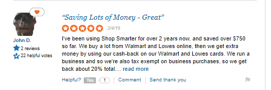 shopsmarter positive review