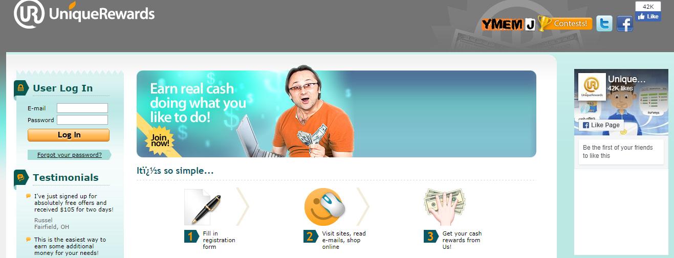 unique rewards website