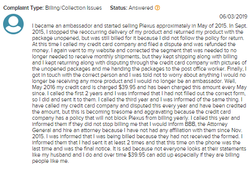 plexus reviews