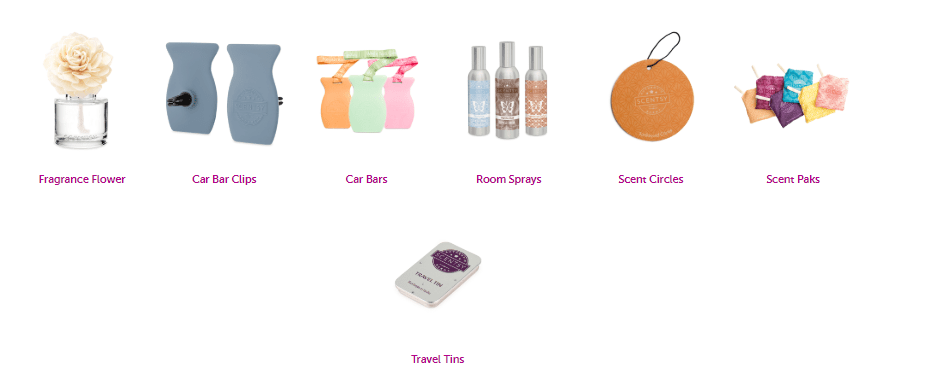 scentsy product line