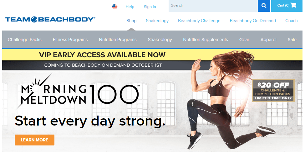 team beachbody website