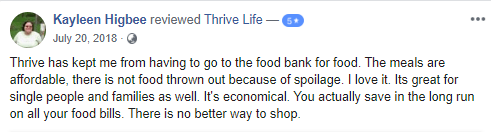 thrive life review