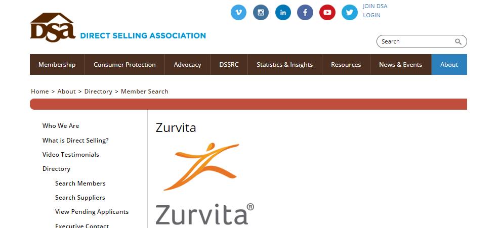zurvita direct selling association