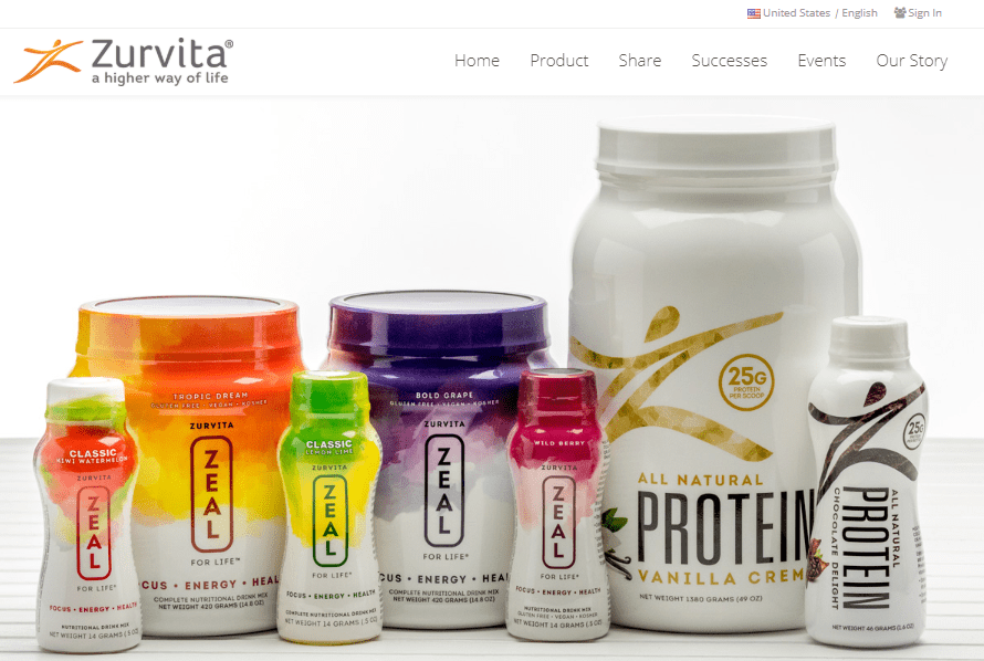 zurvita website