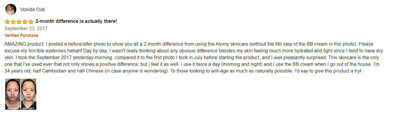 atomy positive reviews