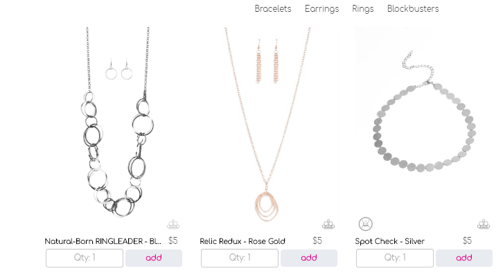paparazzi jewelry product line