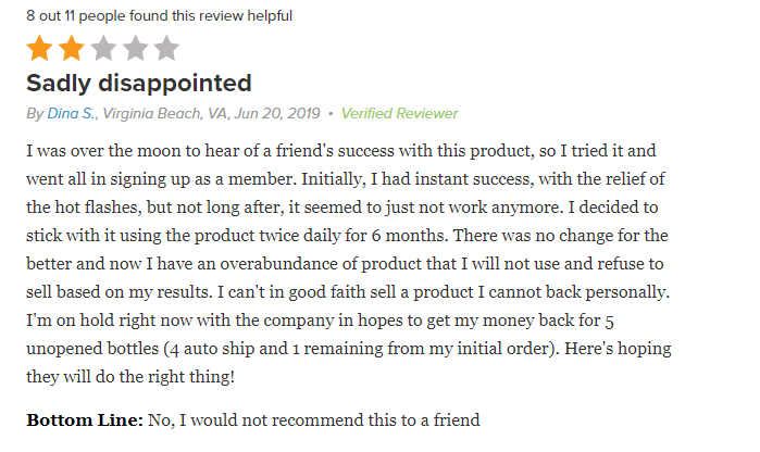 somaderm negative reviews