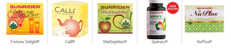 sunrider product line