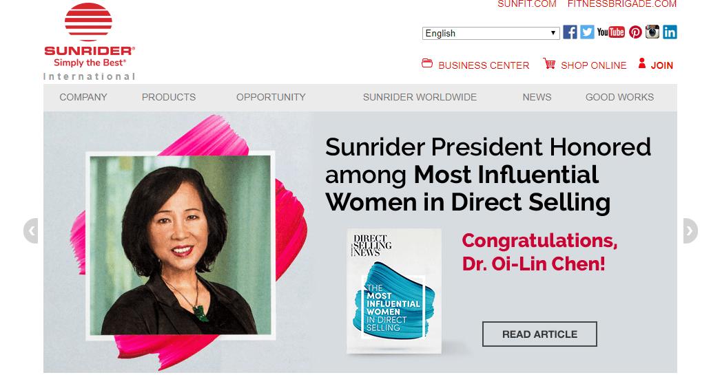 sunrider website