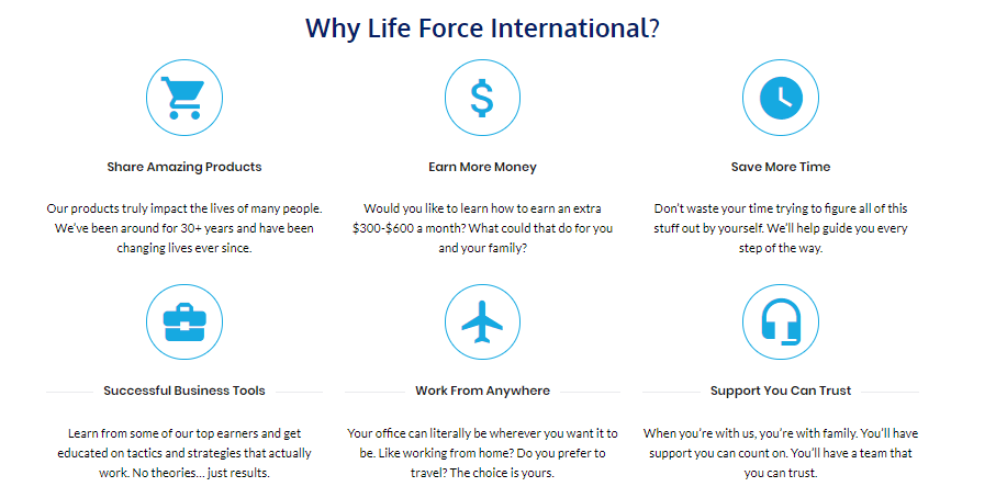 why join life force international
