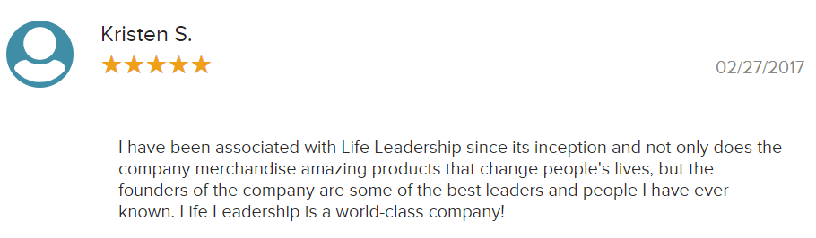 life leadership positive review