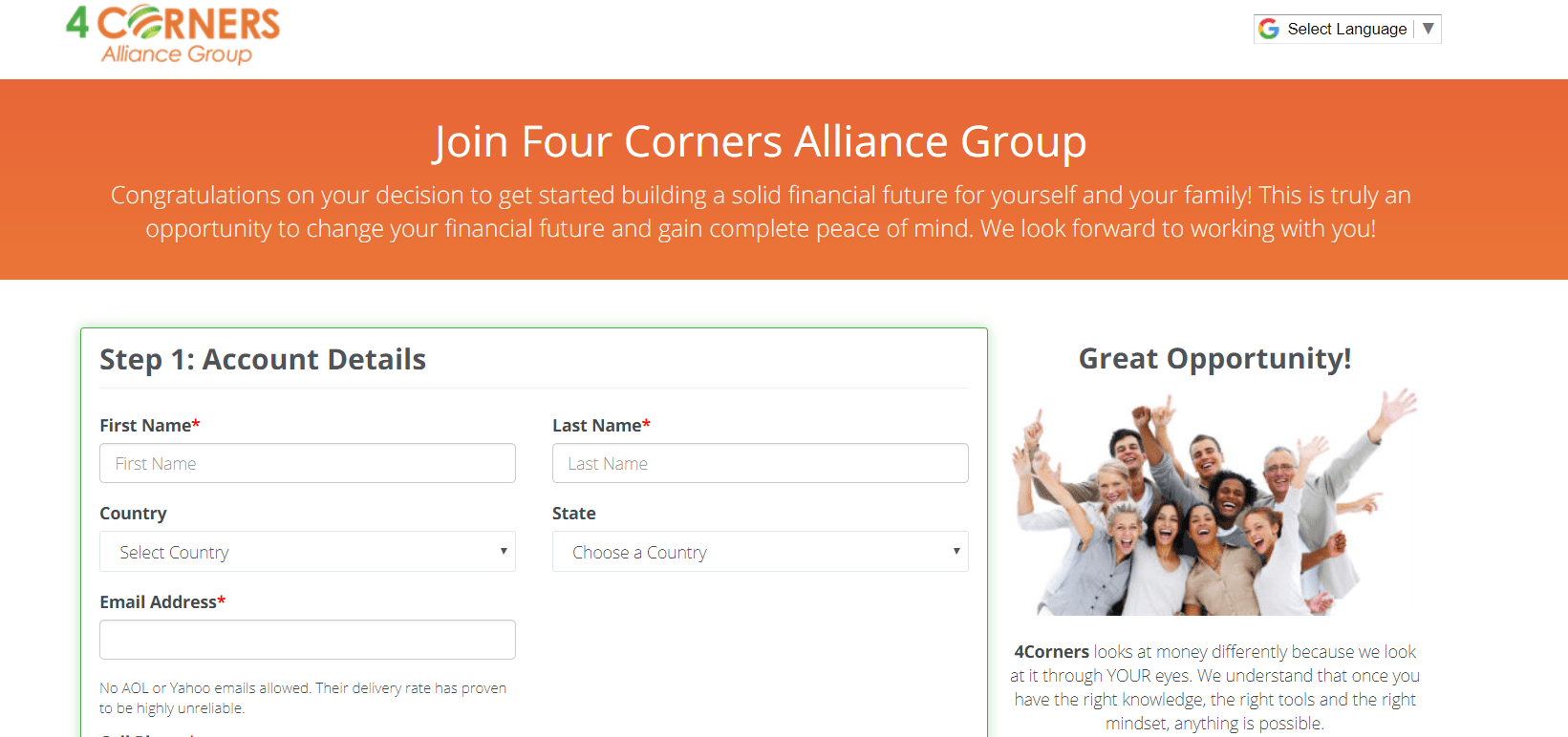 4 corners alliance group website