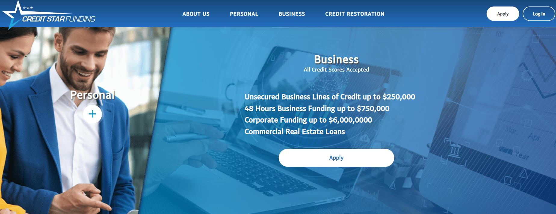 credit star funding website
