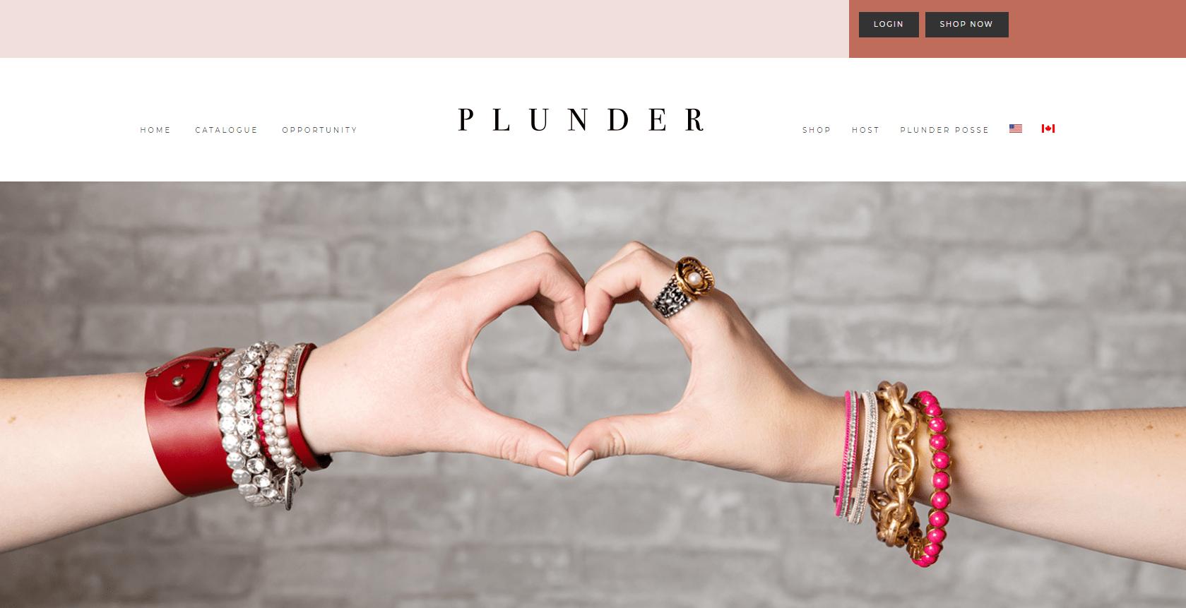plunder design website