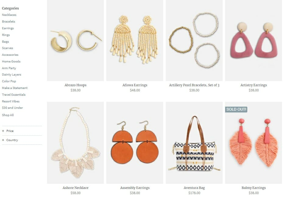 noonday collection product line