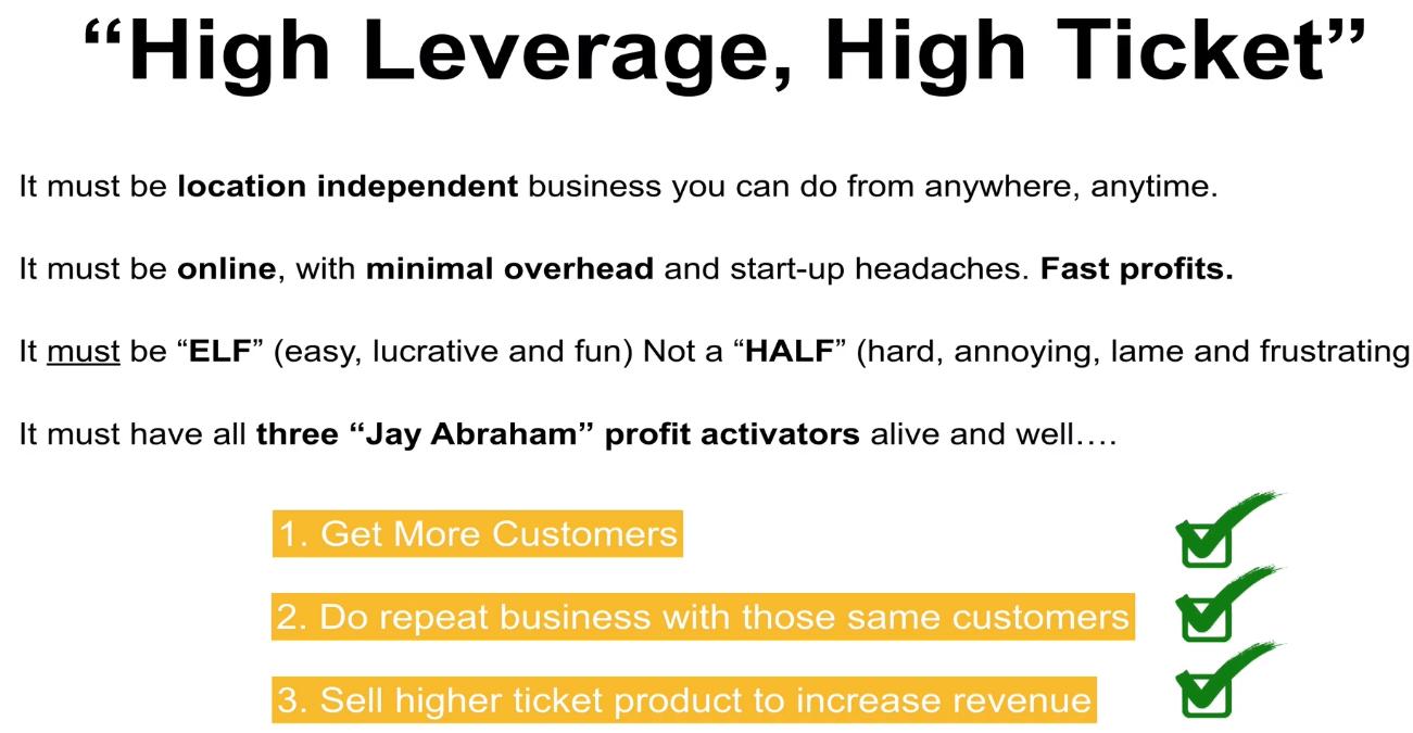 legendary marketer high leverage